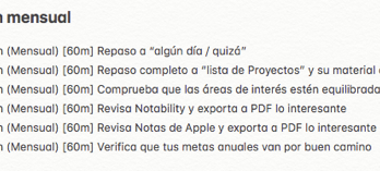 GTD con Todoist Revision mensual