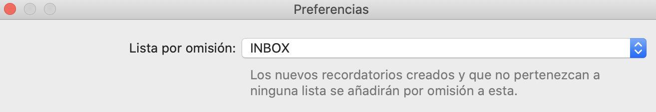 Sistema GTD con Apple capturando