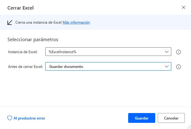 Cerrar Excel