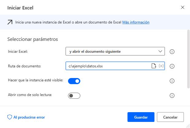 Iniciar Excel